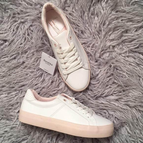 56827f66942f Bershka Shoes - Bershka White Sneakers 37